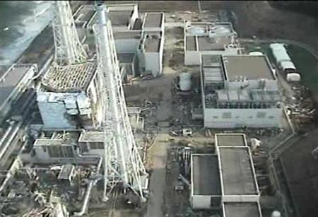 Tokyo Electric Power (TEPCO) Co.'s crippled Fukushima Daiichi Nuclear Power Plant is seen in this still image taken from a video shot by an unmanned helicopter on April 10, 2011 and released by TEPCO April 11, 2011, one month after the 9.0 magnitude earthquake and tsunami battered Japan's northeast coast. REUTERS/Tokyo Electric Power Co/Handout