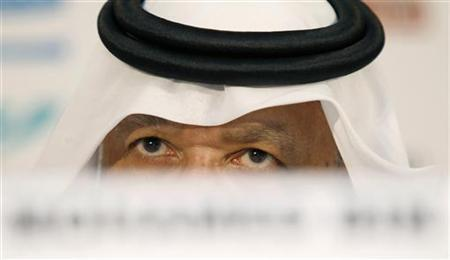 AFC President Mohammed Bin Hammam attends a news conference before the 2011 Asian Cup final soccer match between Japan and Australia at Khalifa stadium in Doha, January 29, 2011. REUTERS/Fadi Al-Assaad