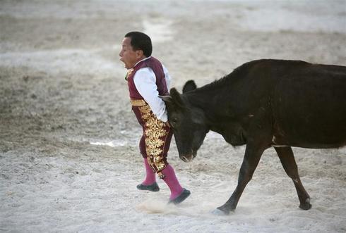 Dwarf bullfighters