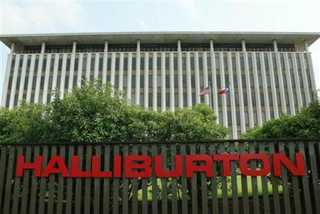 Halliburton headquarters near downtown Houston is shown in this May 9, 2003 file photo. REUTERS/Richard Carson