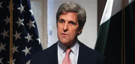 Senator John Kerry (D-MA) speaks during a news conference in Islamabad May 16, 2011. REUTERS/Faisal Mahmood
