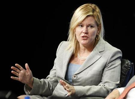 Meredith Whitney, CEO, Meredith Whitney Advisory Group LLC, participates in the Reading the Tea Leaves: Investing for 2010 and Beyond panel at the 2010 Milken Institute Global Conference in Beverly Hills, California April 28, 2010. REUTERS/Danny Moloshok