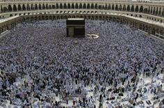 <p>Muslim pilgrims circle the Kaaba at the Grand mosque in Mecca, during the annual haj pilgrimage, November 19, 2010. REUTERS/Fahad Shadeed</p>