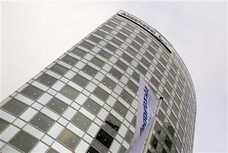 A general view of the headquarters of AkzoNobel before the presentation of the company's 2010 annual results in Amsterdam February 17, 2011. REUTERS/Jerry Lampen