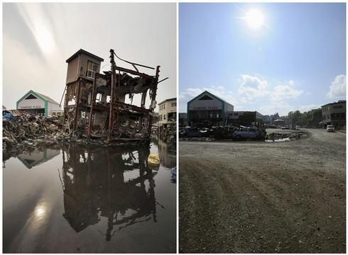 Japan's tsunami: Before and after