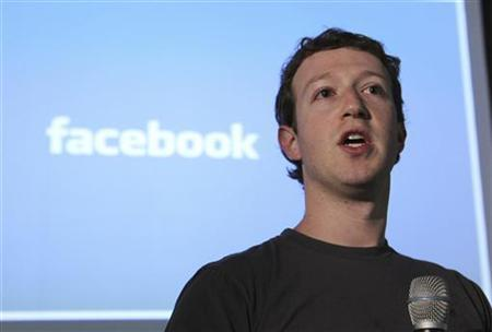 Facebook Founder & Chief Executive Officer Mark Zuckerberg, launches Facebook's ''open compute program'' at Facebook's headquarters in Palo Alto, California April 7, 2011. . REUTERS/Norbert von der Groeben