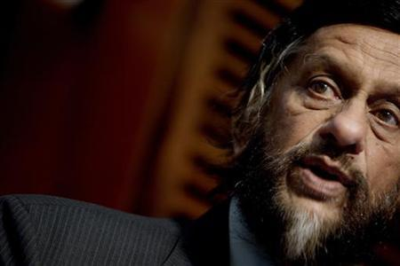 Intergovernmental Panel on Climate Change (IPCC) Chair Rajendra K. Pachauri speaks during the opening of the ''Nansen Conference on Climate Change and Displacement in the 21st Century'' in Oslo June 6, 2011. REUTERS/Stian Lysberg Solum/Scanpix Norway
