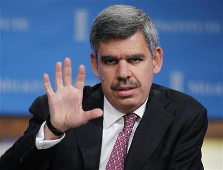 Mohamed El-Erian, CEO and Co-Chief Investment Officer of PIMCO, speaks at the panel discussion ''The Shape of Things to Come: Understanding the New Global Economy'' at the 2011 The Milken Institute Global Conference in Beverly Hills, California May 2, 2011. REUTERS/Fred Prouser