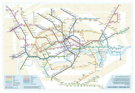 A new map for the London underground system is seen in a graphic released June 28, 2011. REUTERS/Mark Noad/Handout