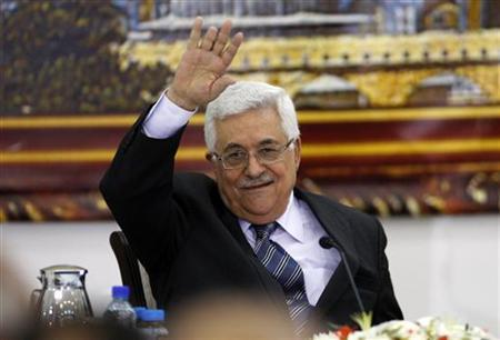 Palestinian President Mahmoud Abbas attends a joint meeting of the Palestinian Liberation Organization (PLO) executive committee and the Fatah central committee in the West Bank city of Ramallah June 26, 2011. REUTERS/Mohamad Torokman