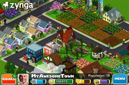 The CityVille hometown game in an image courtesy of Zynga. REUTERS/Handout