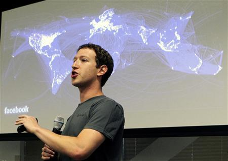 Facebook CEO Mark Zuckerberg speaks during a news conference at Facebook's headquarters in Palo Alto, California, July 6, 2011. REUTERS/Norbert von der Groeben