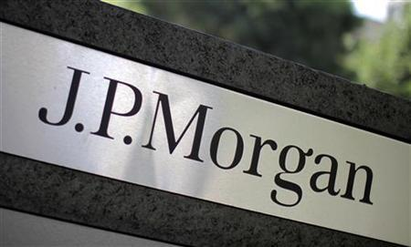 A sign is seen outside the JPMorgan office in Los Angeles, California, October 12, 2010. REUTERS/Lucy Nicholson