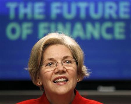 Consumer Financial Protection Bureau Advisor Elizabeth Warren listens to a question at the Reuters Future Face of Finance Summit in Washington March 1, 2011. REUTERS/Kevin Lamarque