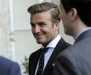 <p>Soccer player David Beckham attends a private reception for Britain's Prince William and his wife Catherine, Duchess of Cambridge at the British Consul-General's residence in Los Angeles July 8, 2011. Prince William and his wife are on a royal visit to California from July 8 to July 10. REUTERS/Chris Pizzello/Pool</p>