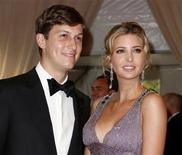 "<p>Jared Kushner and Ivanka Trump pose at the Metropolitan Museum of Art Costume Institute Benefit celebrating the opening of ""American Woman: Fashioning a National Identity"" in New York May 3, 2010. REUTERS/Jessica Rinaldi</p>"