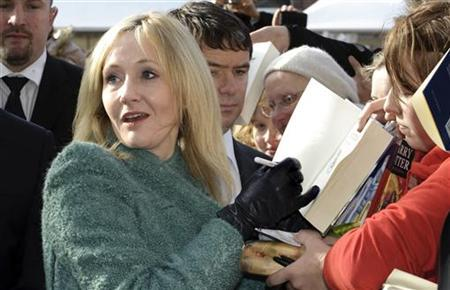 British author J.K. Rowling signs autographs outside Odense Concert Hall in Odense October 19, 2010. REUTERS/Jens Norgaard Larsen/SCANPIX