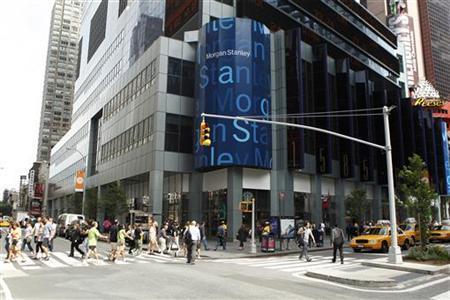 People cross the street near the Morgan Stanley headquarters in New York, June 11, 2010. REUTERS/Lucas Jackson