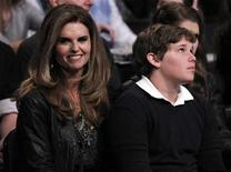 <p>Maria Shriver (L) and son Christopher Schwarzenegger (R) attend the NBA basketball All-Star weekend in Los Angeles February 19, 2011. REUTERS/Danny Moloshok</p>
