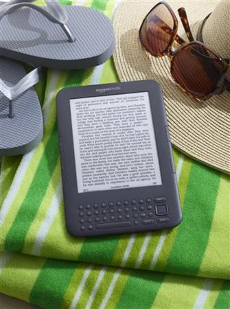 The Amazon Kindle Wi-Fi e-book reader is shown in this publicity photo released to Reuters on July 28, 2010. REUTERS/Amazon.com/Handout