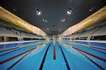 the london 2012 olympics aquatics centre is seen at the olympic park site in east london july 27 2011 reutersben stansallpool