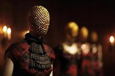 <p>Creations by the late British designer Alexander McQueen are displayed during a preview at the Metropolitan Museum of Art in New York, May 2, 2011. REUTERS/Finbarr O'Reilly</p>