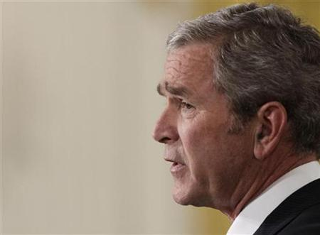 Ex-President George W. Bush, delivers a farewell address from the White House in Washington, January 15, 2009. REUTERS/Yuri Gripas