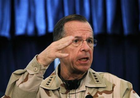 Admiral Mike Mullen, chairman of the U.S. Joint Chiefs of Staff, speaks during a news conference in Kabul in this December 17, 2010 file photo. REUTERS/Omar Sobhani