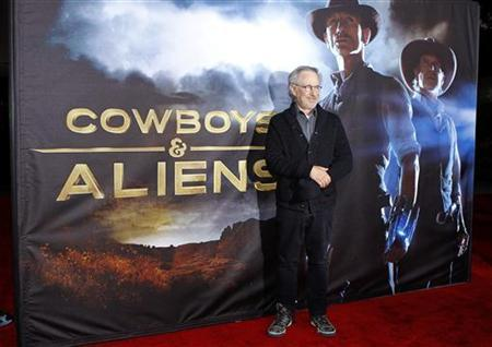 Executive producer Steven Spielberg arrives for the world premiere of Universal Pictures motion picture ''Cowboys & Aliens'' in conjunction with Comic Con in San Diego, California July 23, 2011. REUTERS/Mike Blake
