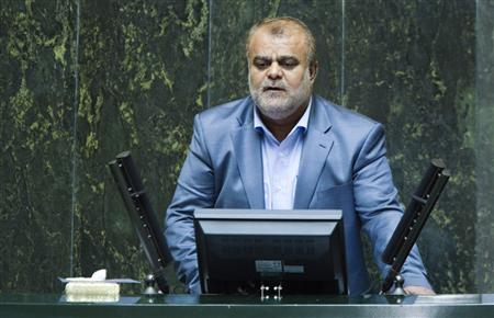 Rostam Qasemi speaks during his confirmation as the new Minister of Oil in parliament in Tehran July 3, 2011. REUTERS/Raheb Homavandi