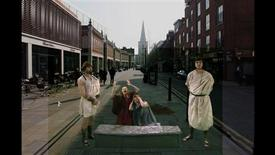 <p>Roman mourners recreated in Spitalfield, a scene from the Museum of London's Streetmuseum Londinium. REUTERS/History Television</p>