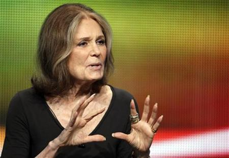 Writer and activist Gloria Steinem speaks during a session about a documentary on her life 'Gloria In Her Own Words' during the HBO session at the 2011 Summer Television Critics Association Cable Press Tour in Beverly Hills, California July 28, 2011. REUTERS/Fred Prouser