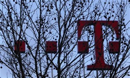 The sign of Deutsche Telekom headquarters is pictured in Bonn February 25, 2010. REUTERS/Ina Fassbender