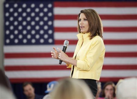 Republican presidential candidate and Minnesota Congresswoman Michele Bachmann (R-MN) speaks during a campaign stop at the TD Convention Center in Greenville, South Carolina August 16, 2011. REUTERS/Patrick Collard