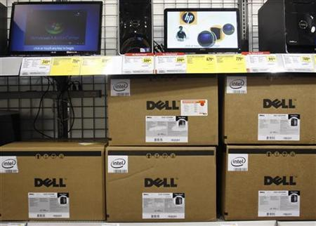 Dell computers are displayed at Best Buy in Phoenix, Arizona, February 18, 2010. REUTERS/Joshua Lott