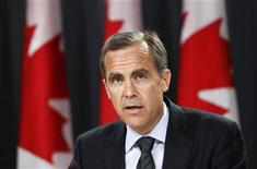 <p>Bank of Canada Governor Mark Carney speaks during a news conference upon the release of the Monetary Policy Report in Ottawa July 20, 2011. REUTERS/Chris Wattie</p>