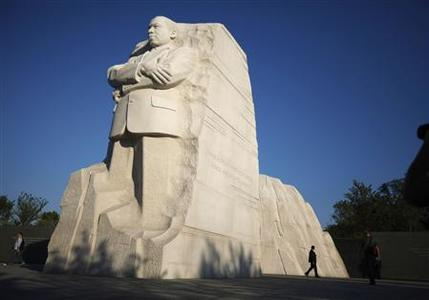 The new Martin Luther King Jr. Memorial is shown in Washington August 22, 2011. REUTERS/Jason Reed