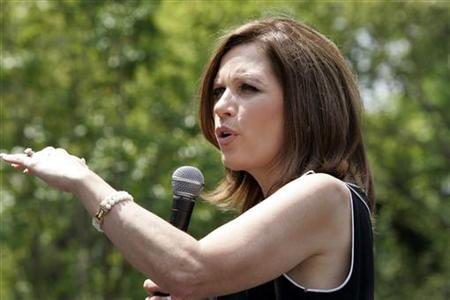 U.S. Republican presidential candidate Michele Bachmann speaks during a rally in Columbia, South Carolina August 18, 2011. REUTERS/Maryann Chastain