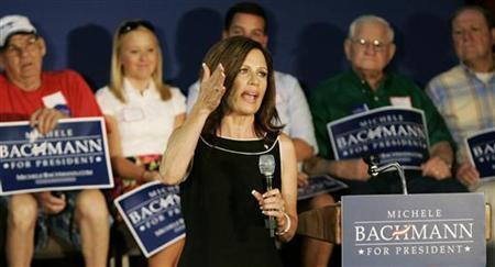 Republican U.S. presidential candidate Michele Bachmann speaks during a rally in Florence, South Carolina August 18, 2011. REUTERS/Maryann Chastain