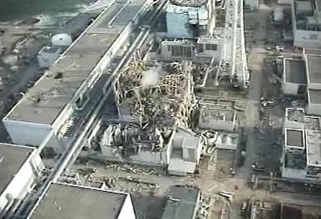 Tokyo Electric Power (TEPCO) Co.'s crippled Fukushima Daiichi Nuclear Power Plant No. 3 reactor in Fukushima prefecture, northern Japan is seen in this still image taken from a video shot by an unmanned helicopter on April 10, 2011 and released by TEPCO April 11, 2011, one month after the 9.0 magnitude earthquake and a huge tsunami battered Japan's northeast coast. Mandatory Credit. REUTERS/Tokyo Electric Power Co/Handout