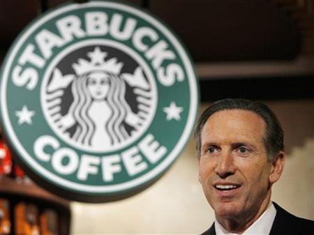 Starbucks Chief Executive Howard Schultz attends a news conference in Tokyo, April 13, 2010. REUTERS/Yuriko Nakao