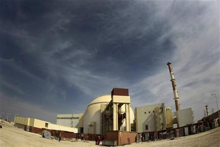 A general view of the Bushehr nuclear power plant, some 1,200 km (746 miles) south of Tehran in this October 26, 2010 file photo. REUTERS/IRNA/Mohammad Babaie