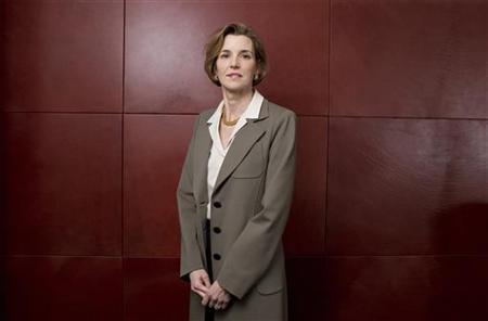 Sallie Krawcheck, president of Global Wealth & Investment Management for Bank of America poses for a portrait in New York, February 25, 2010. REUTERS/Lucas Jackson