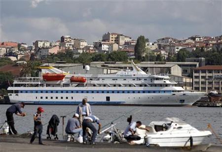 Cruise liner Mavi Marmara is pictured under maintenance in a shipyard in Istanbul September 4, 2011. REUTERS/Murad Sezer