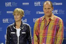 "<p>Actors Woody Harrelson (R) and Robin Wright pose during the press conference for the film ""Rampart"" at the 36th Toronto International Film Festival September 11, 2011. REUTERS/Mike Cassese</p>"