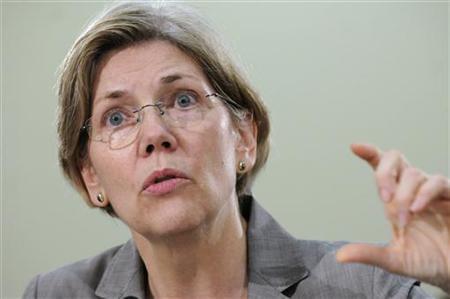Elizabeth Warren gestures as she testifies on Capitol Hill in Washington, May 24, 2011. REUTERS/Jonathan Ernst