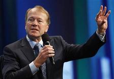 """<p>John Chambers, Chairman and Chief Executive Officer of Cisco, participates in a panel discussion titled """"Enhancing Access to Modern Technology,"""" at the Clinton Global Initiative, in New York, September 23, 2010. REUTERS/Chip East</p>"""