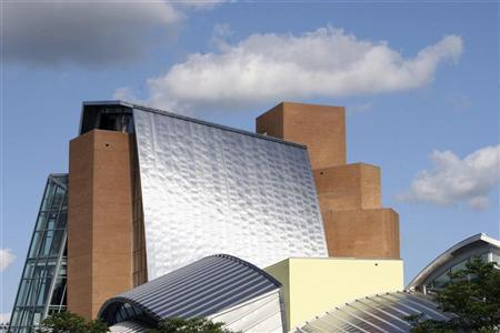 Princeton University's Lewis Library, designed by architect Frank Gehry, is seen here on the campus in Princeton, New Jersey, November 30, 2009. TRAVEL-PRINCETON/ REUTERS/Steve James