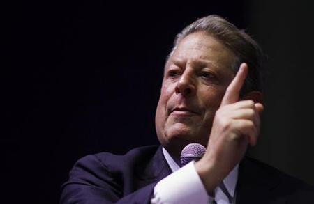 Former U.S. vice president Al Gore addresses the audience during the Campus Party event in Mexico City July 19, 2011. REUTERS/Carlos Jasso
