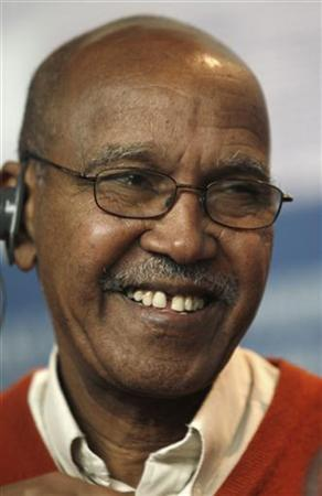 Nuruddin Farah, author and member of the Berlinale jury, attends a news conference at the Berlinale International Film Festival in Berlin February 11, 2010. REUTERS/Christian Charisius